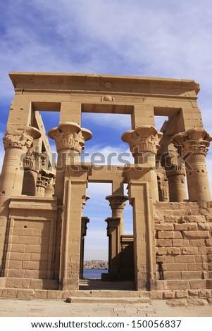 Trajan kiosk, Philae Temple, Lake Nasser, Egypt - stock photo