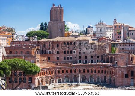 Trajan's Market (Mercati Traianei). Rome. Italy. - stock photo