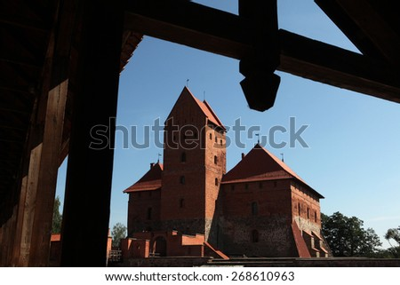 Trakai Castle near Vilnius, Lithuania. - stock photo
