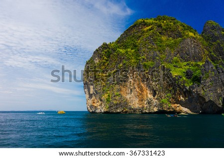 Tranquil Bay Blue Seascape  - stock photo