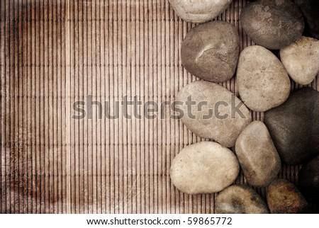 Tranquility Concept Grunge Background - stock photo