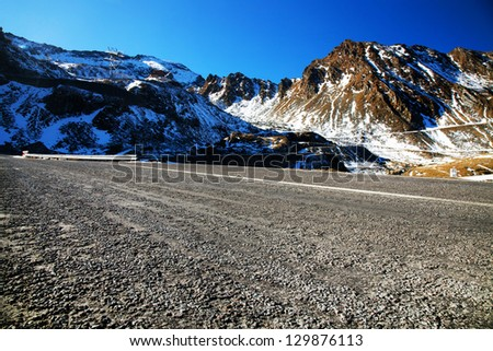 Transfagarasan alpine road, Romania, Europe - stock photo