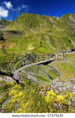 Transfagarasan mountain road - stock photo