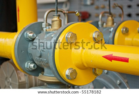 transfer oil and gas to main pipe line - stock photo