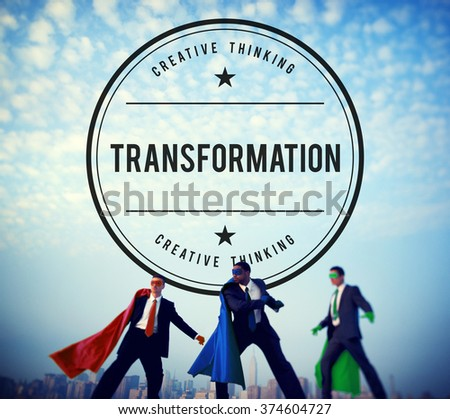 Transformation Change Conversion Transfiguration Alteration Concept - stock photo