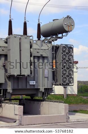 transformator - stock photo