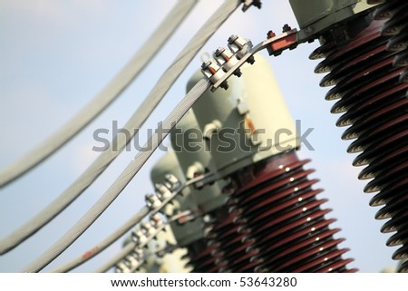 transformer station - stock photo