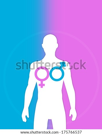 Transgender and Homosexual concept. Trans Surgery idea. - stock photo