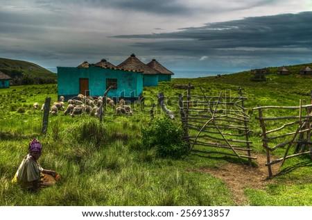 Transkei Heartland Taken in Transkei, Eastern Cape of South Africa. - stock photo