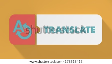 Translate Concept in Flat Design with Long Shadows. - stock photo