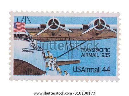 Transpacific airmail 1935 - USA irmail 44 - stock photo