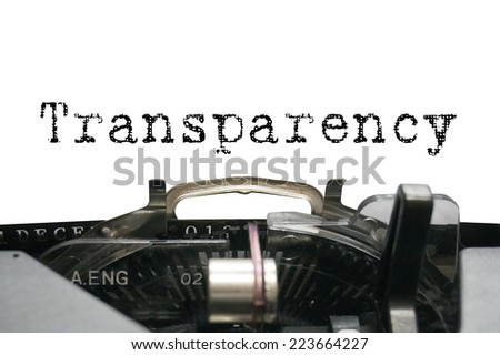Transparency on typewriter - stock photo