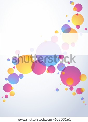 Transparent bubble banner, vertical(jpg); Eps10 version also available - stock photo