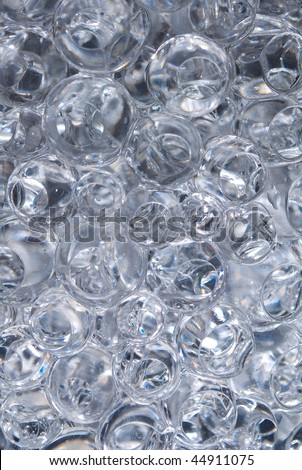 Transparent bubbles in water - stock photo