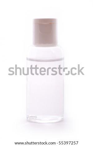 Transparent container with liquid - stock photo