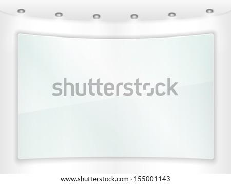 Transparent glass frame - stock photo