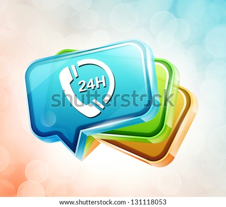 Transparent label icon - stock photo