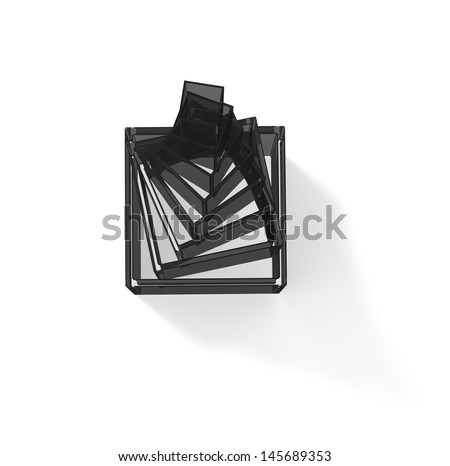 Transparent pyramid - stock photo