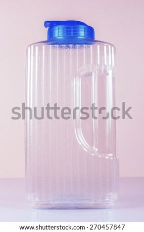 Transparent water tank. - stock photo