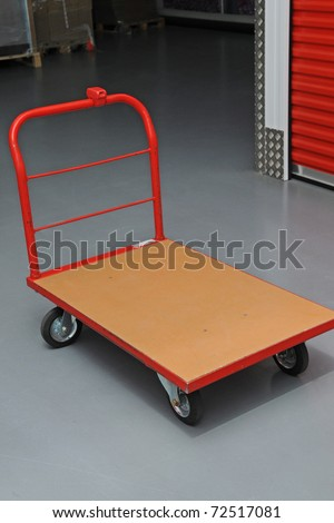 Transport cart - stock photo