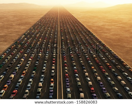 transport collapse - stock photo