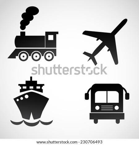 Transport icon isolated on white background.  - stock photo