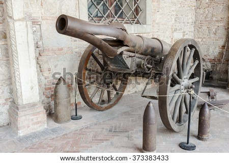 Transport of World War I Krupp Cannon barrel burst - stock photo