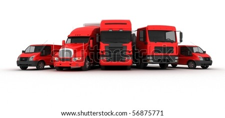 Transport Power red - stock photo