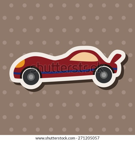 Transportation car icon cartoon stickers icon - stock photo