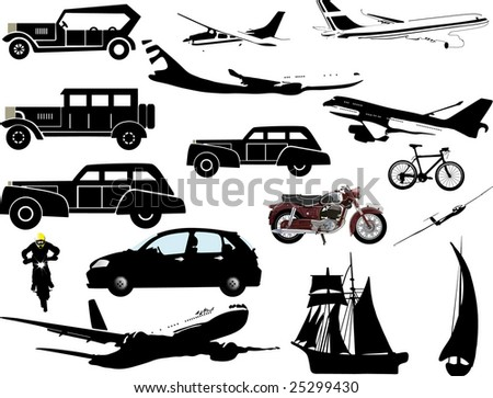 transportation collection - stock photo