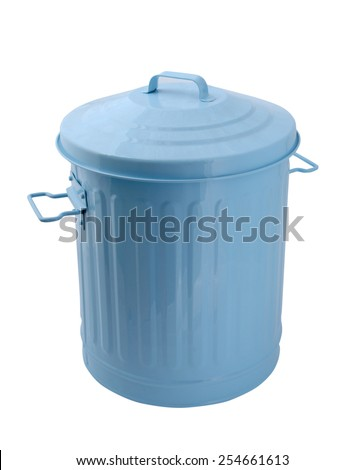 trash can on white background - stock photo