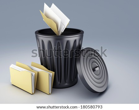 trash Folder   - stock photo