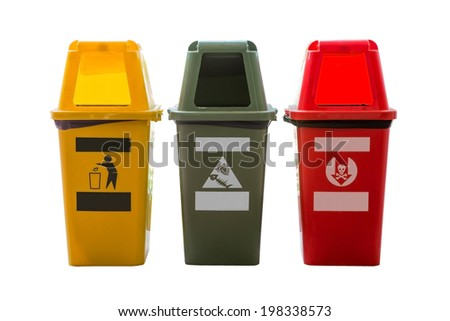 trashcan isolated with clipping path(ready to us) - stock photo