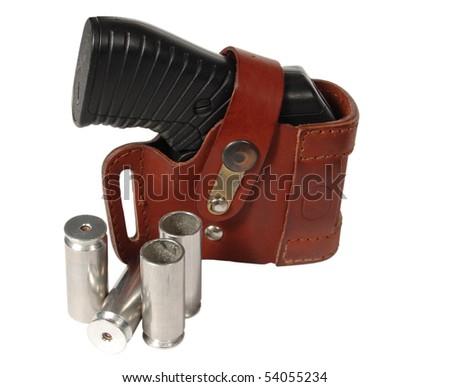 traumatic pistol - stock photo