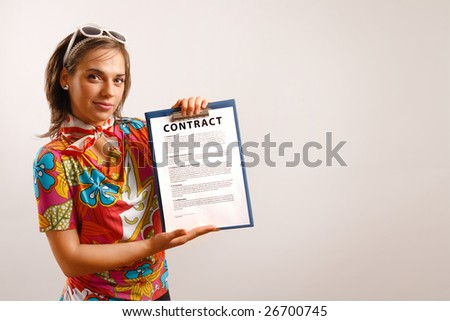 Travel agent - stock photo