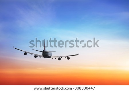 travel background, international airlines - stock photo
