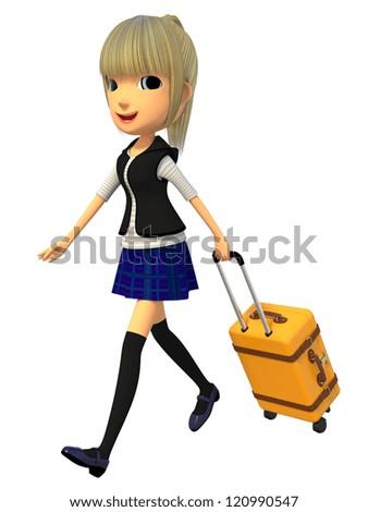 Travel bag - stock photo