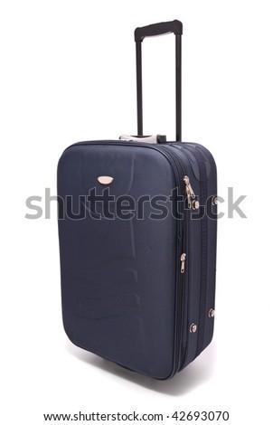 Travel bag isolated on white background - stock photo