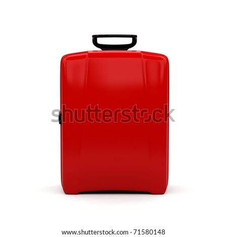 Travel bag on white background. - stock photo