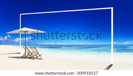 Travel Beach Summer Landscape Pacific Ocean Concept - stock photo