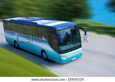 travel bus - stock photo