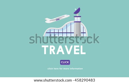 Travel Business Trip Flights Information Concept - stock photo