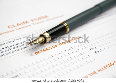 Travel claim form - stock photo
