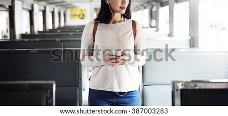 Travel Commuter Destination Tourist Concept - stock photo
