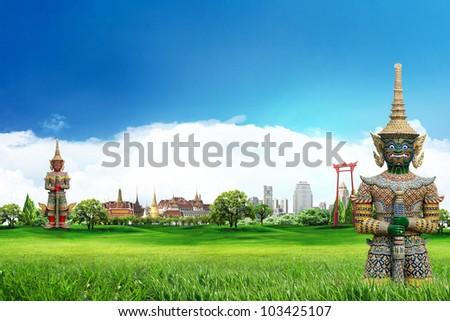 Travel concept, bangkok THAILAND - stock photo