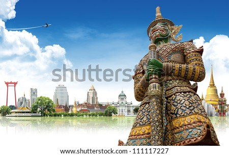 Travel concept, Bangkok THAILAND - stock photo