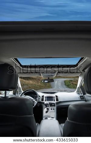 Travel in car - stock photo