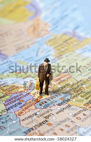 travel in work - stock photo
