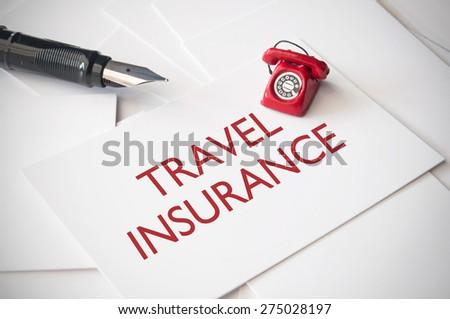 Travel insurance  - stock photo