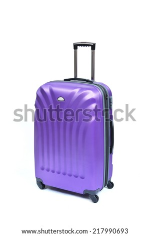 Travel luggage isolated on the white background - stock photo